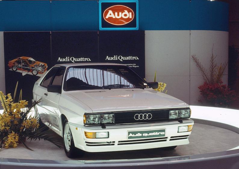 Audi quattro 1980. gadā starptautiskajā Ženēvas autošovā